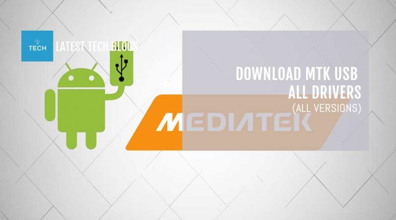 Download MTK USB All Drivers