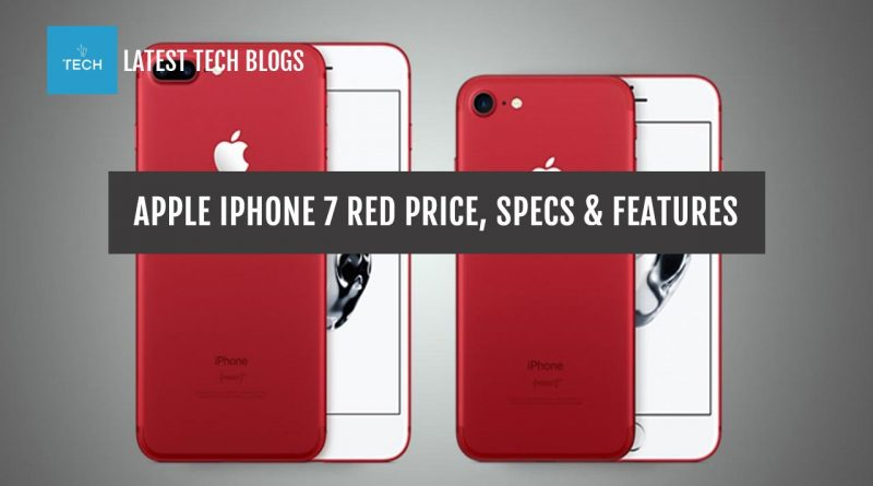 Apple IPhone 7 red Price, Specs & Features